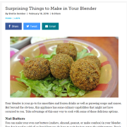 Food_Surprising Things to Make in Your Blender